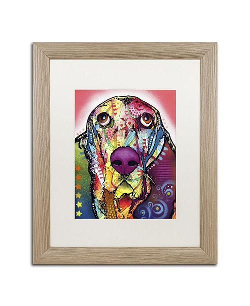 """Trademark Global Dean Russo 'Basset' Matted Framed Art - 20"""" x 16"""" x 0.5"""""""