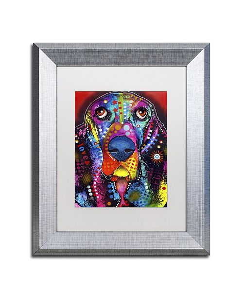 "Trademark Global Dean Russo 'Basset II' Matted Framed Art - 14"" x 11"" x 0.5"""