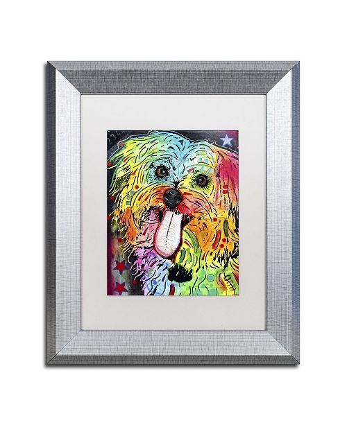 """Trademark Global Dean Russo 'Shih Tzu' Matted Framed Art - 14"""" x 11"""" x 0.5"""""""