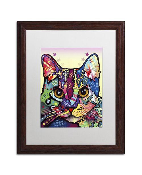 """Trademark Global Dean Russo 'Maya Cat' Matted Framed Art - 20"""" x 16"""" x 0.5"""""""