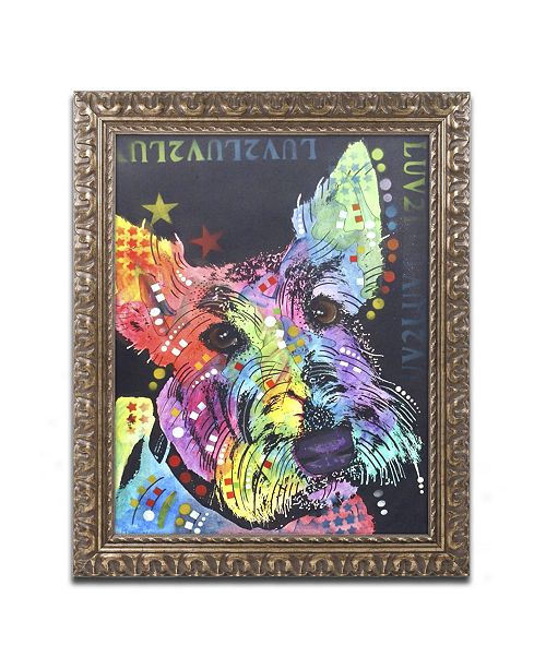 "Trademark Global Dean Russo 'Scottish Terrier' Ornate Framed Art - 20"" x 16"" x 0.5"""