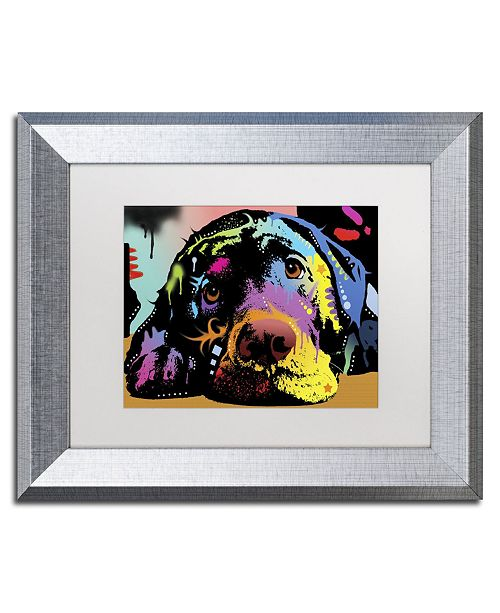 "Trademark Global Dean Russo 'Lying Lab' Matted Framed Art - 14"" x 11"" x 0.5"""