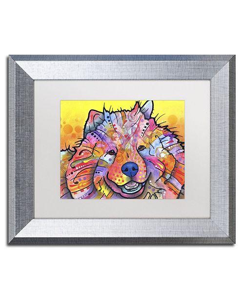 """Trademark Global Dean Russo 'Benzi' Matted Framed Art - 14"""" x 11"""" x 0.5"""""""