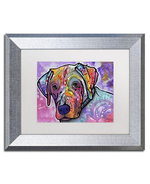 """Trademark Global Dean Russo 'Petunia' Matted Framed Art - 14"""" x 11"""" x 0.5"""""""