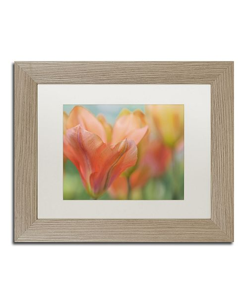 "Trademark Global Cora Niele 'Orange Wings Tulips' Matted Framed Art - 14"" x 11"" x 0.5"""