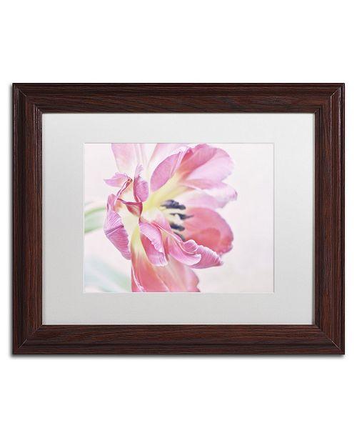 "Trademark Global Cora Niele 'Cerise Tulip' Matted Framed Art - 14"" x 11"" x 0.5"""