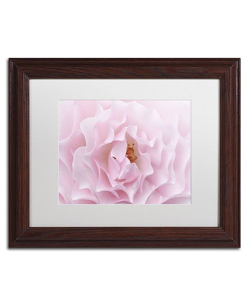 "Trademark Global Cora Niele 'Rose Pink Rose' Matted Framed Art - 14"" x 11"" x 0.5"""
