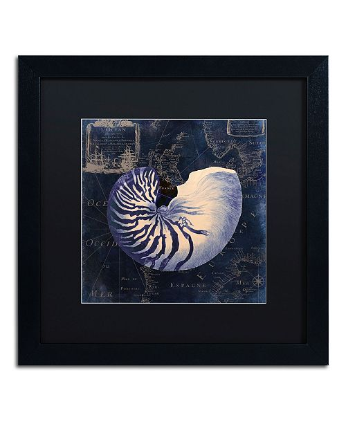 "Trademark Global Color Bakery 'Maritime Blues V' Matted Framed Art - 16"" x 16"" x 0.5"""