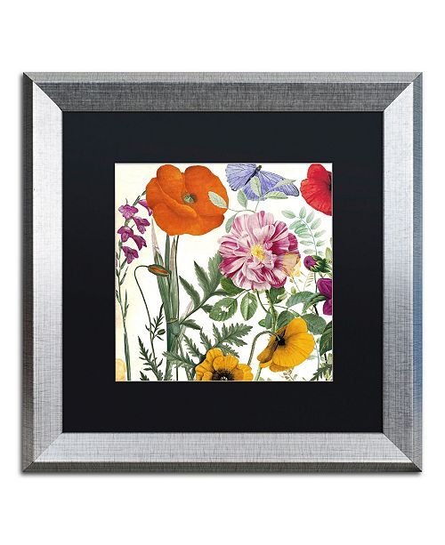 "Trademark Global Color Bakery 'Printemps II' Matted Framed Art - 16"" x 0.5"" x 16"""