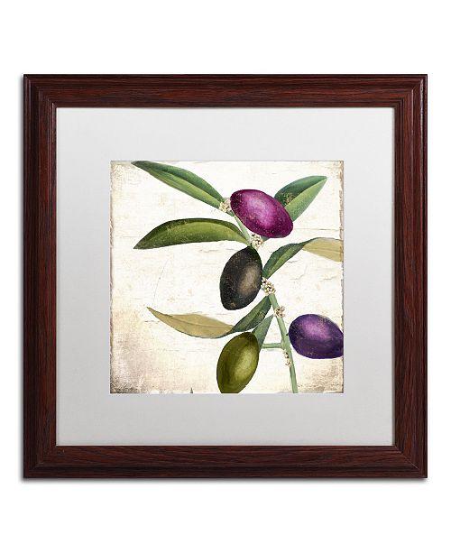 "Trademark Global Color Bakery 'Olive Branch II' Matted Framed Art - 16"" x 0.5"" x 16"""