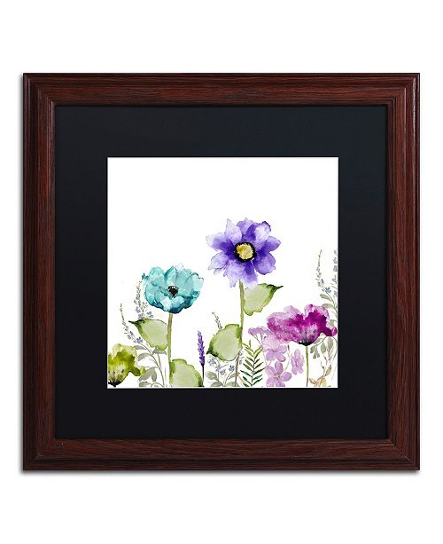 "Trademark Global Color Bakery 'Avril II' Matted Framed Art - 16"" x 0.5"" x 16"""
