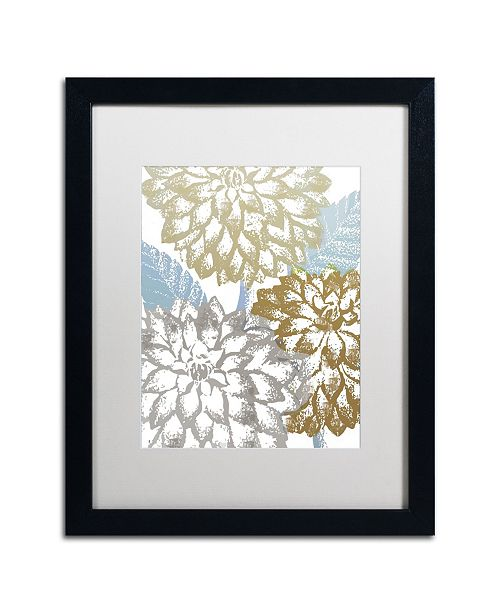 "Trademark Global Color Bakery 'Sea Dahlias II' Matted Framed Art - 16"" x 20"" x 0.5"""