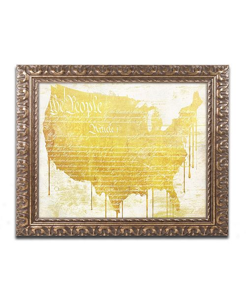 "Trademark Global Color Bakery 'American Dream II' Ornate Framed Art - 14"" x 0.5"" x 11"""