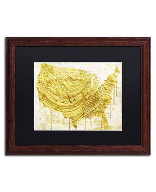 "Trademark Global Color Bakery 'American Dream III' Matted Framed Art - 20"" x 0.5"" x 16"""