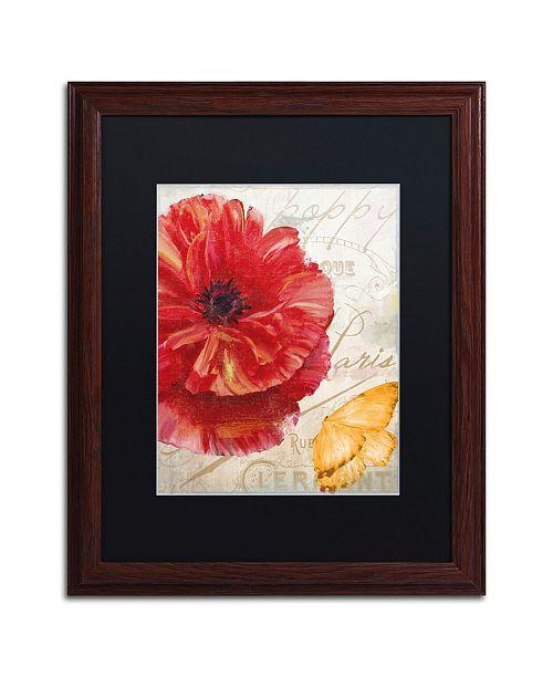 "Trademark Global Color Bakery 'Red Poppy' Matted Framed Art - 16"" x 0.5"" x 20"""
