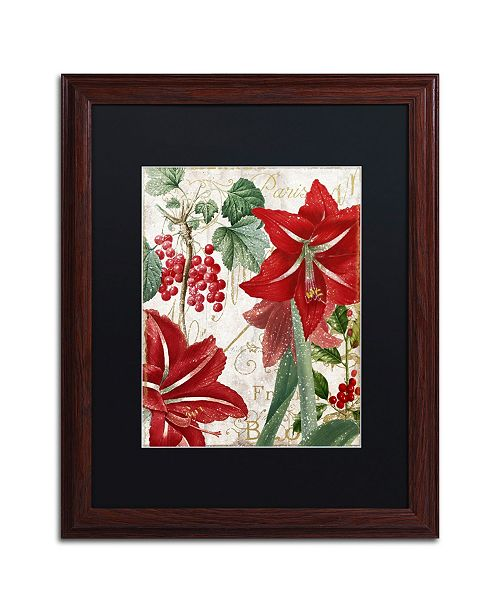 "Trademark Global Color Bakery 'Amaryllis' Matted Framed Art - 16"" x 0.5"" x 20"""