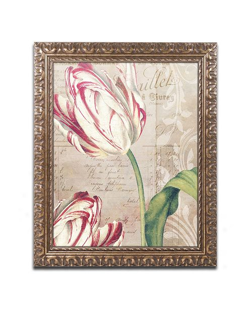"""Trademark Global Color Bakery 'Tulips' Ornate Framed Art - 11"""" x 0.5"""" x 14"""""""