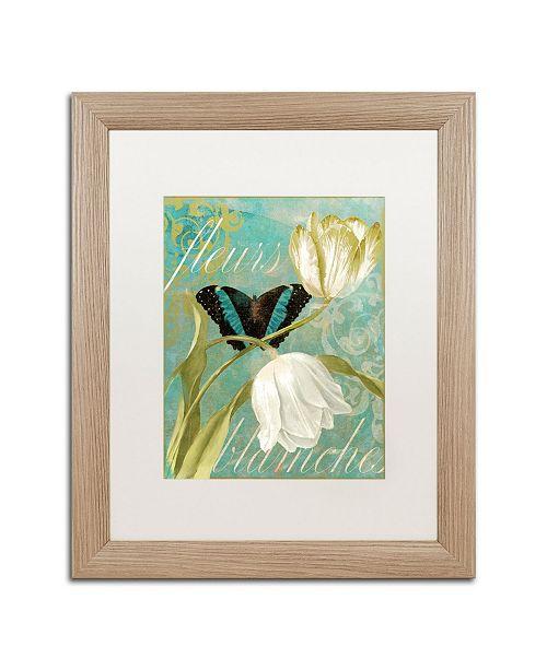 "Trademark Global Color Bakery 'White Tulips' Matted Framed Art - 16"" x 0.5"" x 20"""