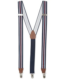 Club Room Men's Striped Stretch Suspenders, Created for Macy's