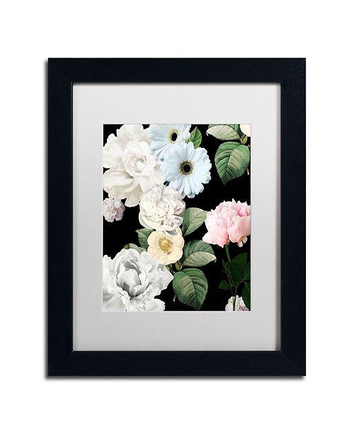 "Trademark Global Color Bakery 'Wallflowers' Matted Framed Art - 11"" x 14"" x 0.5"""