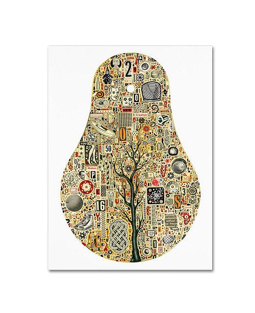 "Trademark Global Colin Johnson 'Frequency' Canvas Art - 47"" x 35"" x 2"""