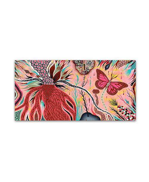 "Trademark Global Colin Johnson 'The Pink Opaque' Canvas Art - 24"" x 12"" x 2"""