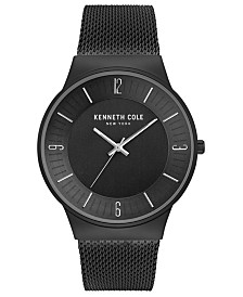 Kenneth Cole New York Men's Mesh Bracelet with Classic Dial, 42MM