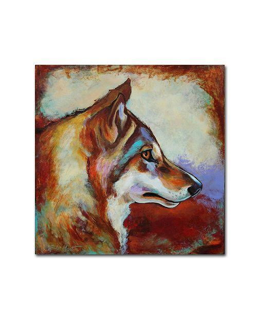"Trademark Global Corina St. Martin 'Wolf Portrait' Canvas Art - 18"" x 18"" x 2"""