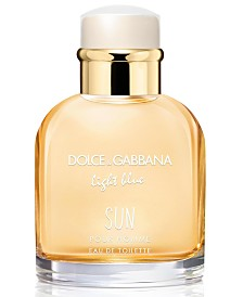DOLCE&GABBANA Men's Light Blue Sun Eau de Toilette Spray, 2.5-oz.