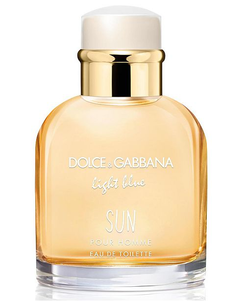 Dolce & Gabbana DOLCE&GABBANA Men's Light Blue Sun Eau de Toilette Spray, 2.5-oz.