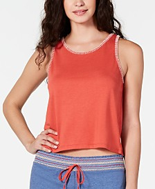 Jenni Stitch-Trim Pajama Tank Top, Created for Macy's