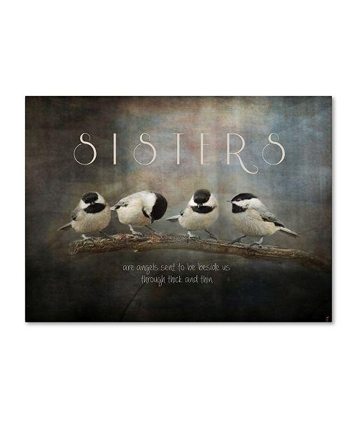 "Trademark Global Jai Johnson 'Sisters Chickadees' Canvas Art - 47"" x 35"" x 2"""