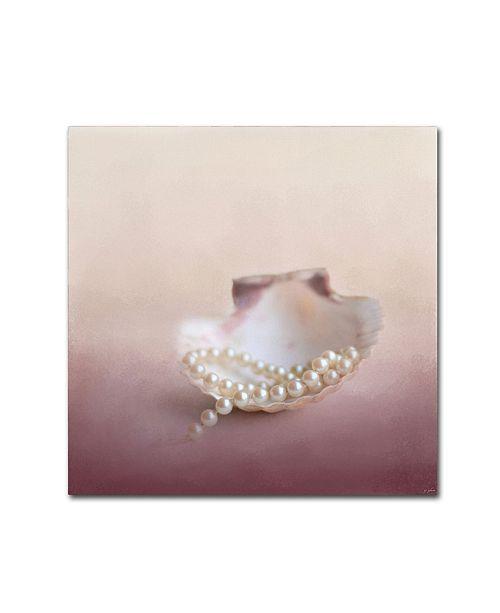 "Trademark Global Jai Johnson 'Pearls On A Shell' Canvas Art - 14"" x 14"" x 2"""