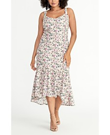 RACHEL Rachel Roy Plus Size Floral Knit Jacquard Midi Dress