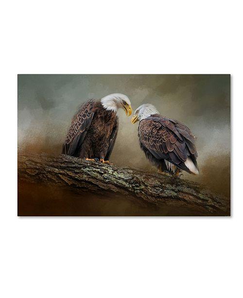 "Trademark Global Jai Johnson 'Quiet Conversation Bald Eagles' Canvas Art - 47"" x 30"" x 2"""