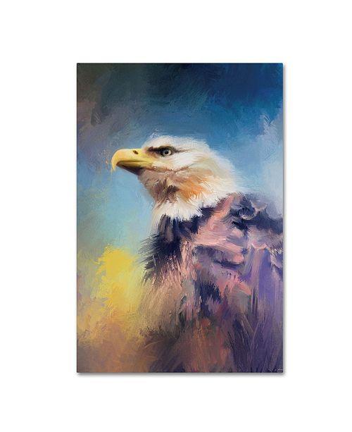 "Trademark Global Jai Johnson 'Eagle On Guard' Canvas Art - 47"" x 30"" x 2"""