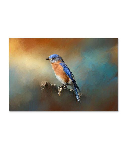 "Trademark Global Jai Johnson 'Bluebird On The Fence' Canvas Art - 24"" x 16"" x 2"""