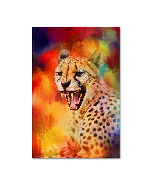 "Trademark Global Jai Johnson 'Colorful Expressions Cheetah 2' Canvas Art - 32"" x 22"" x 2"""