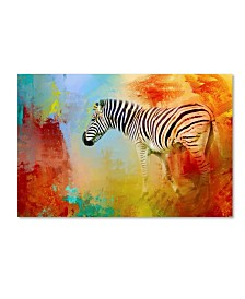 "Jai Johnson 'Colorful Expressions Zebra' Canvas Art - 47"" x 30"" x 2"""
