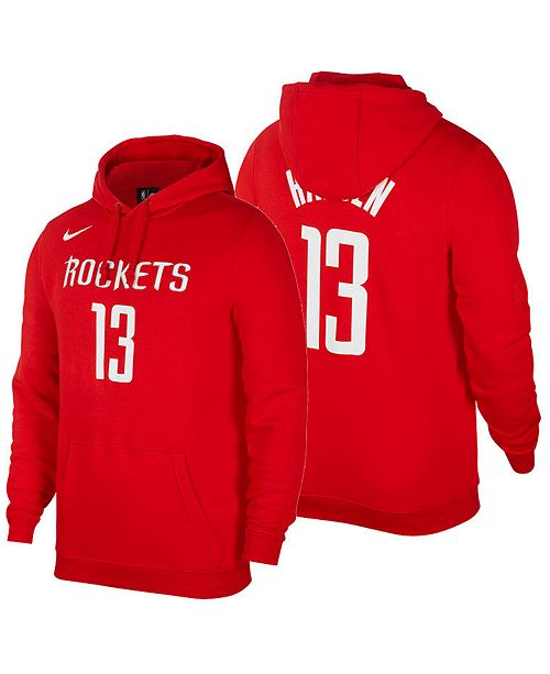 225f05c2ec5 Men s James Harden Houston Rockets Icon Player Name   Number Essential  Hoodie