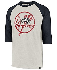 '47 Brand Men's New York Yankees Coop Throwback Club Raglan T-Shirt