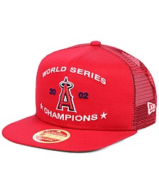 New Era Los Angeles Angels Team Front Trucker 9FIFTY Snapback Cap