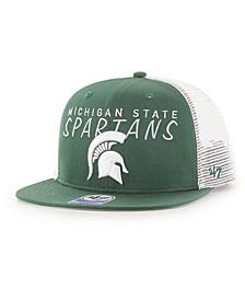 Big Boys Michigan State Spartans Wordmark Captain Snapback Cap