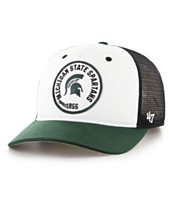 3f97a882fe604  47 Brand Michigan State Spartans Swell MVP Trucker Snapback Cap