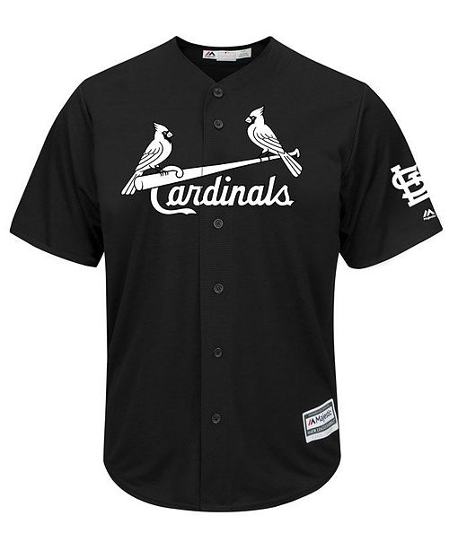 ac48347e0 ... Majestic Men s St. Louis Cardinals Black Tux Replica Cool Base Jersey  ...