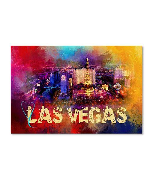 "Trademark Global Jai Johnson 'Sending Love To Las Vegas' Canvas Art - 47"" x 30"" x 2"""
