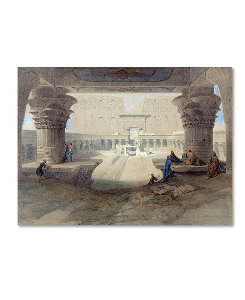 """Trademark Global David Roberts 'Portico Of The Temple' Canvas Art - 24"""" x 18"""" x 2"""""""