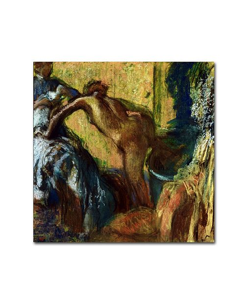 "Trademark Global Degas 'After The Bath 2' Canvas Art - 24"" x 24"" x 2"""