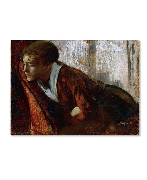 "Trademark Global Degas 'Melancholy' Canvas Art - 19"" x 14"" x 2"""