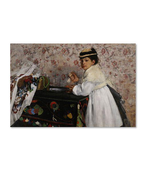 "Trademark Global Degas 'Portrait Of Hortense' Canvas Art - 32"" x 22"" x 2"""